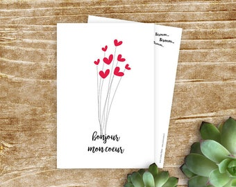 """""""Hello sweetie"""" card for your sweetheart"""