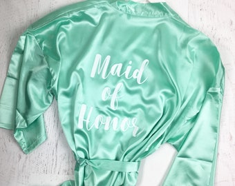 Personalized Robe / Bridesmaid Robe / Bridal Robes / Maid of Honor Robe/ Bridal Party Robes / Wedding Satin Robes / CL SOL