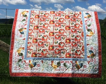 Country Farm Fresh Lap Quilt or Table Topper
