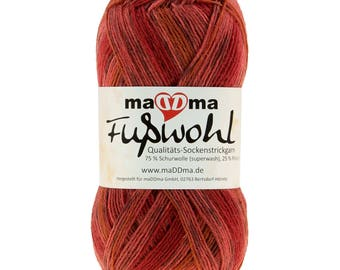 Sockwool maDDma foot well, 75% wool, free choice of color (color: red)