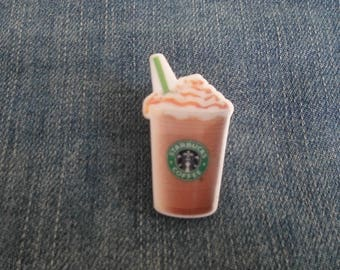 Handmade Starbucks Frappe Drink Coffee Cream Pin Badge
