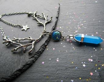 Sea Goddess Fand Necklace, Coral Reef Necklace, Mermaid Scales Necklace, Sea Necklace, Mermaid Jewelry, Briar Necklace, Ocean Necklace
