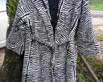 vintage ZEBRA STRIPES..Hiromi collection coat@winter jacket