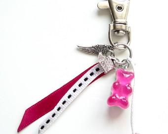 Bag charm - pink gummy bear LEXFIMO