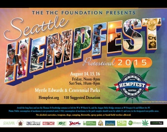 2015, Protestival Letters Poster by Seattle HEMPFEST®