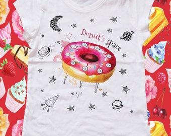 DONUT SPACE-girl t-shirt