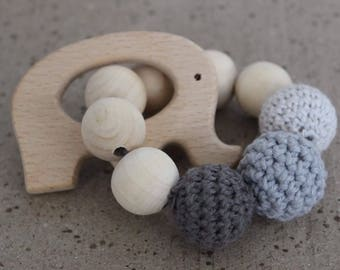 Baby Wooden Crochet Teether 100% Eco Toy
