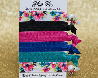 Watercolor Floral Collection | Hair Ties, Hair Elastics, Headband