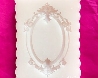 Flexible silicone mold Ornate oval picture frame