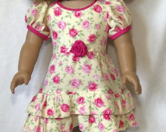 Cute perfect summer dress for your 18 inch doll.
