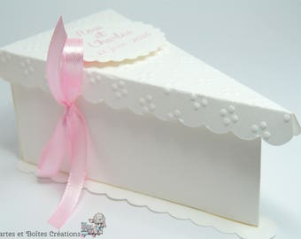 Box hand Cake Topper wedding - Josephine Collection - free shipping
