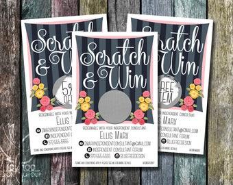 Scratch to Win! Personalized Scratch Off Discount Cards! - SC_14