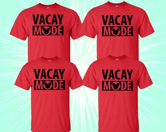SALE- Family Mickey Minnie Shirts, Matching Disney Vacation Shirts, Disney Shirts, Disney Vacation Trip, Vacation Mode