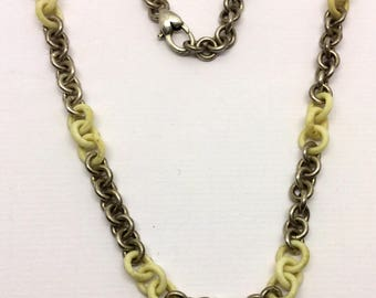 sterling silver link chain necklace  #224