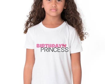 Birthday Girl PRINCESS Shirt with TIARA/CROWN