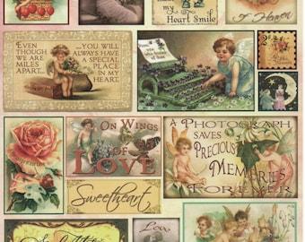 Love & Romance Heartwarming Vintage Cuts Crafty Secrets Scrapbook Embellishments Card Making