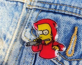 Hip-Hop Bart Simpson Pin