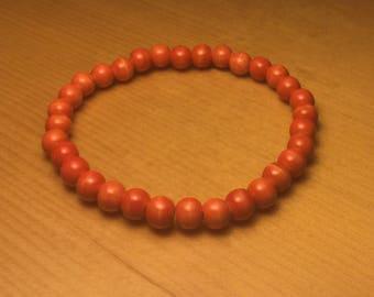 Orange Wood Bracelet