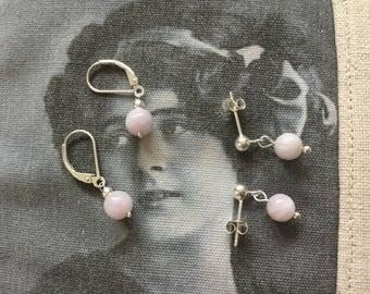 Kunzite dangling earring