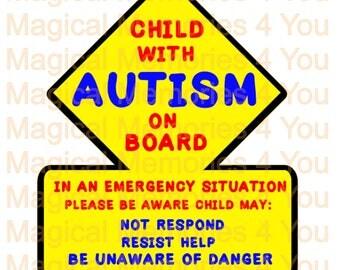 Autism Awareness Car Decal, First Responders Awareness, Special Needs Awareness Decal, Window Decal, Autism
