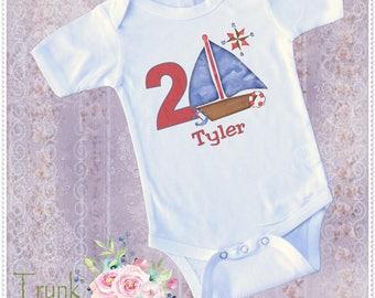 Boys Nautical Birthday; Nautical Birthday Bodysuit; Boys 1st Nautical Birthday; Boys 2nd Nautical Birthday Tee