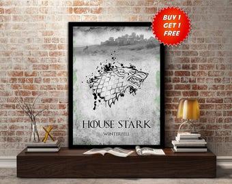House, Stark, Game Of Thrones, Winterfell, Wolf, Winter, Winter is coming, Jon Snow, Arya Stark, Eddard Stark, Sigil,BirthdayMothers Day