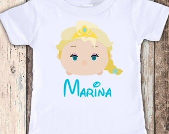Elsa Frozen Tsum Disney vacation or birthday tshirt personalized