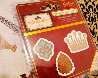 Crafter's Companion Downton Abbey Metal Cutting Templates ~Downton Abbey Icons~