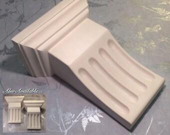 Decorative Handmade Victorian Fluted Plaster Corbel