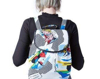 Backpack White pop art e! nyani