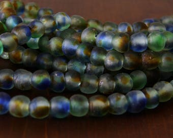 Earth Colored Recycled Glass Beads - ARG 134