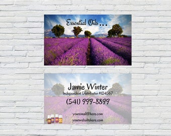 Lavender Business Card | Lavender Business, Personalized Business Card, Small Business, YL Business Card, Essential Oil Card, Business Cards