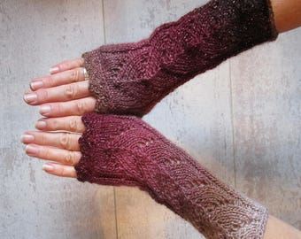 Elf Gloves, Valentine's Day Gift, Fingerless Gloves Knit, Gloves Women, Arm Warmers, Mother's Day Gift, Birthday Gift, GIft for Yourself