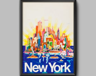 new york poster etsy. Black Bedroom Furniture Sets. Home Design Ideas