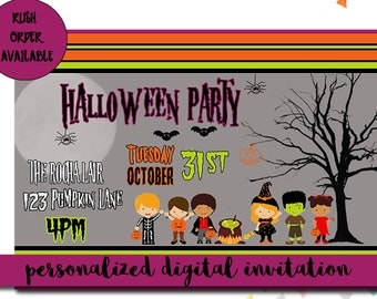 Halloween Party Digital Invitation