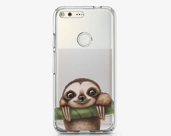 Sloth Phone Case Google Pixel Case Google Pixel XL Case Pixel Case Pixel XL Case Pixel Phone Case Animal Phone Case Silicone Case AC1505