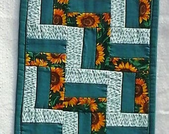 Sunflower Rail Fence Table Runner