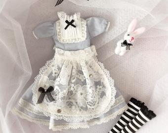 Alice dress -dorandoran,kukuclara,momoko,u-nia,Licca,Jenny...