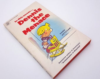 Dennis The Menace Vintage Children's Comic Book ... In this corner by Hank Ketcham Classic 1967 A Fawcett Crest Book