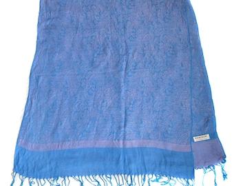 Vintage scarf pink Pashmina 70% pashmina 30 silk