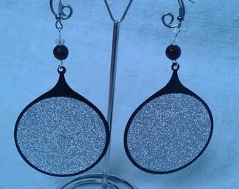 "Earrings ""round metal and silver"""