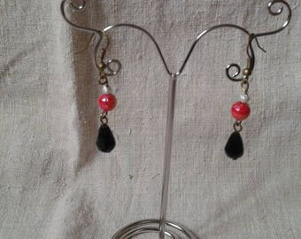 """Earrings """"red and black"""""""