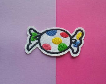 RAINBOW CANY- Iron On Patch/Applique/Jacket Patch/Applique/Embroidered Patch/Backpack Patches/Food Patch/Polka Dot/Easter Gift