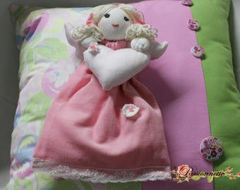 Doll/Angel to hang for decor in shades of pink