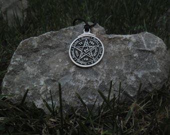 Solomon tetragrammaton necklace,Solomon pentagram keychain,Solomon Pentacle pendant,Protective talisman,King Solomon charm,Solomon key