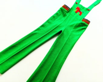 vintage 70s DunGarEeS size 5Y ReTro OldSchoOl LatzHoSe 110 pants hipSter