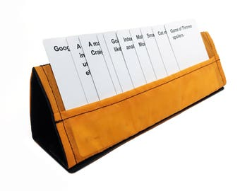 Orange Collapsible Card Stand