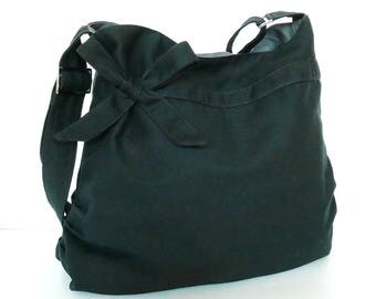 Virine black shoulder bag, cross body messenger everyday handbag, travel...