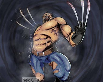 Wolverine In Action - Claws - Marvel - Fan Art