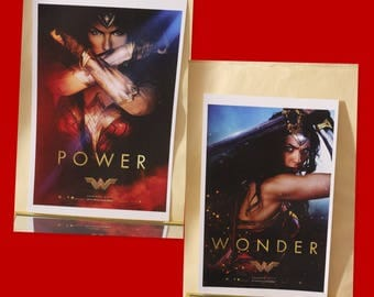 Wonder Woman posters (set of 2 posters) 17x11 inches